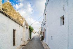 Τα σπίτια Trulli Alberobello σε Apulia στην Ιταλία Στοκ Φωτογραφία