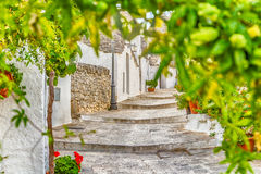 Τα σπίτια Trulli Alberobello σε Apulia στην Ιταλία Στοκ φωτογραφία με δικαίωμα ελεύθερης χρήσης