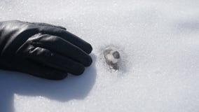 Τα σπασίματα εγκαταστάσεων μέσω του χιονιού απόθεμα βίντεο