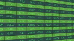 Τα στοιχεία στατιστικών για την αναλυτική αναθεώρηση της περιόδου εμπορικών συναλλαγών, δείκτες αυξάνονται και μειώνονται Στοκ Εικόνες