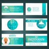 τα στοιχεία σχεδίου επαγγελματικών καρτών που τίθενται τα πρότυπα διάνυσμα φύλλων απεικόνισης στοιχείων σχεδίου EPS10 Στοκ Εικόνες