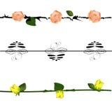 Τα στοιχεία σχεδίου καθορισμένα το λουλούδι Στοκ φωτογραφίες με δικαίωμα ελεύθερης χρήσης