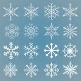 τα στοιχεία σχεδίου που τίθενται snowflakes το διάνυσμά σας διανυσματική απεικόνιση