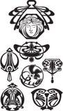 Τα στοιχεία σχεδίου του Art Deco Στοκ Εικόνα