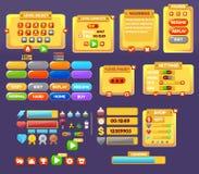 Τα στοιχεία της διεπαφής παιχνιδιών Στοκ Εικόνα
