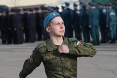 τα στρατιωτικά ρωσικά στοκ εικόνα
