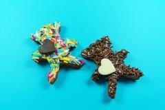 Τα συμπεριφερμένα μπισκότα αντέχουν Στοκ φωτογραφία με δικαίωμα ελεύθερης χρήσης