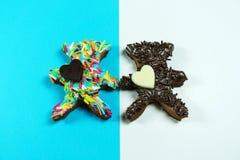 Τα συμπεριφερμένα μπισκότα αντέχουν Στοκ εικόνες με δικαίωμα ελεύθερης χρήσης