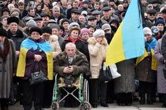 Τα συνάθροιση-ρέκβιεμ σε Chortkiv Στοκ εικόνα με δικαίωμα ελεύθερης χρήσης