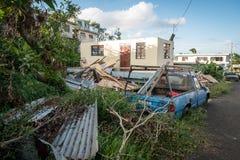 Τα συντρίμμια του τυφώνα Μαρία Στοκ Φωτογραφίες
