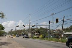 Τα συντρίμμια του τυφώνα Μαρία Στοκ Φωτογραφία