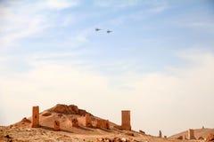 Τα συριακά όργανα ελέγχου Palmyra Πολεμικής Αεροπορίας Στοκ Φωτογραφίες