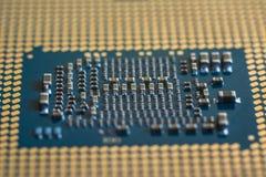 Τα συστατικά του σύγχρονου επεξεργαστή υπολογιστών Υψηλή τεχνολογία στοκ εικόνες