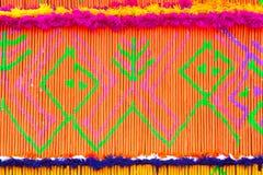 Τα σχέδια του διακοσμητικού θυμιάματος στην παρέλαση της βουδιστικής παράδοσης θυμιάματος αξίζουν το φεστιβάλ δράσης Στοκ Φωτογραφία