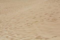 Τα σχέδια άμμου μετά από τον αέρα στην επιφύλαξη φύσης, σταθμεύουν φυσικό, Corralejo, Fuerteventura, Στοκ φωτογραφία με δικαίωμα ελεύθερης χρήσης