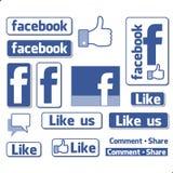 Λογότυπο συμβόλων Facebook Στοκ Εικόνες