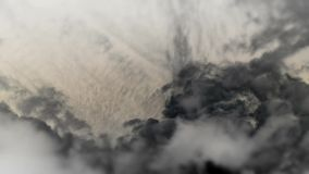 Τα σύννεφα θολώνουν γραπτός αέρας απόθεμα βίντεο