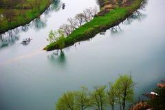 Τα σύνολα λιμνών και μπαμπού κόλπων φεγγαριών Στοκ Εικόνες