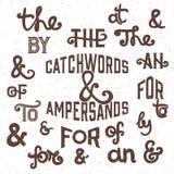 Τα σλόγκαν και ampersands - διανυσματική απεικόνιση Στοκ Φωτογραφία