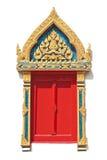 Τα ταϊλανδικά Windows που χρωματίζουν το ύφος στοκ φωτογραφία με δικαίωμα ελεύθερης χρήσης