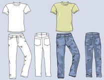 Επανδρώνει τα τζιν και τις μπλούζες Στοκ Εικόνα