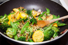 τα τηγανητά υγιή ανακατώνουν το λαχανικό Στοκ Εικόνα