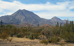 Τα τρία ηφαίστεια virgins στοκ φωτογραφία