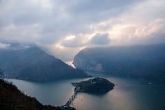 Τα τρία φαράγγια του ποταμού Yangtze Στοκ φωτογραφία με δικαίωμα ελεύθερης χρήσης