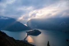 Τα τρία φαράγγια του ποταμού Yangtze Στοκ Εικόνα