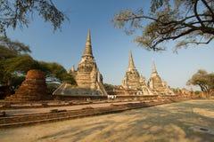 Τα τρία Chedis από το Si Sanphet Wat Phra στοκ εικόνες