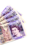 τα τραπεζογραμμάτια Βρετανοί συσκευάζουν Στοκ Φωτογραφίες