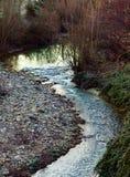 Τα τρεξίματα ποταμών Pesa μέσω της πόλης Sambuca Τοσκάνη Στοκ εικόνες με δικαίωμα ελεύθερης χρήσης
