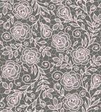 Τα τριαντάφυλλα δένουν το άνευ ραφής σχέδιο Στοκ εικόνα με δικαίωμα ελεύθερης χρήσης