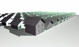 τα τρισδιάστατα σπίτια σύγ&c Στοκ Εικόνα