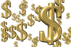 τα τρισδιάστατα χρήματα δίν& Στοκ φωτογραφία με δικαίωμα ελεύθερης χρήσης