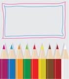 τα τρισδιάστατα μολύβια κραγιονιών χρώματος δίνουν ελεύθερη απεικόνιση δικαιώματος