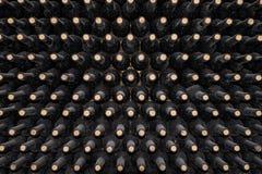 τα τρισδιάστατα μπουκάλια διαμορφώνουν το άσπρο κρασί Στοκ φωτογραφία με δικαίωμα ελεύθερης χρήσης