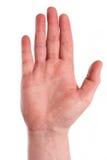 τα τρισδιάστατα χέρια υψηλά δίνουν το κούνημα διάλυσης στοκ εικόνα