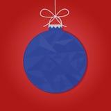 τα τρισδιάστατα Χριστούγεννα μπιχλιμπιδιών ανασκόπησης σύνθεσαν φωτογραφικό πραγματικό δίνουν Στοκ φωτογραφίες με δικαίωμα ελεύθερης χρήσης