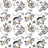 Τα τρι-χρωματισμένα γατάκια κοιμούνται στο πάτωμα Στοκ Εικόνα