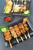 τα τρόφιμα έψησαν τα ιαπωνικά στη σχάρα Στοκ Εικόνες