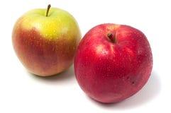 τα τρόφιμα ανασκόπησης μήλων απομόνωσαν το λευκό χρήσης υλικών Στοκ εικόνες με δικαίωμα ελεύθερης χρήσης