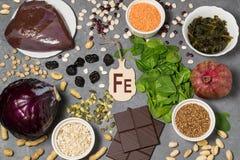 Τα τρόφιμα είναι πηγή ferrum στοκ φωτογραφίες με δικαίωμα ελεύθερης χρήσης