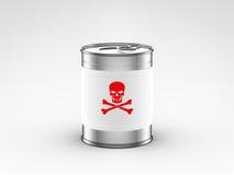 Τα τρόφιμα μπορούν με το δηλητήριο να ονομάσουν Στοκ Εικόνα