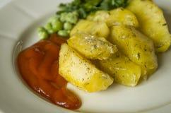 Τα τρόφιμα, πατάτα, οριζόντιος, κατανάλωση, λαχανικά, λαχανικό, διακοσμούν Στοκ Εικόνα