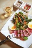 Τα τρόφιμα σαλάτας γεύματος για στοκ φωτογραφία
