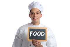 Τα τρόφιμα τρώνε του μαγειρέματος μαγείρων εστιατορίων γευμάτων μεσημεριανού γεύματος που απομονώνεται την κατανάλωση Στοκ Εικόνα