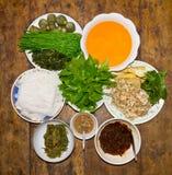 τα τρόφιμα τσίλι θέτουν ταϊλανδικά Στοκ φωτογραφία με δικαίωμα ελεύθερης χρήσης