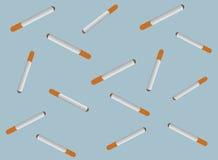 τα τσιγάρα ανασκόπησης κλείνουν τη μακροεντολή επάνω Στοκ Φωτογραφία