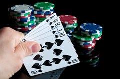 τα τσιπ ξεπλένουν το πόκερ Στοκ φωτογραφίες με δικαίωμα ελεύθερης χρήσης
